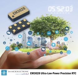 EM Microelectronic enables green IoT with revolutionary ultra-low-power precision Real-Time-Clock